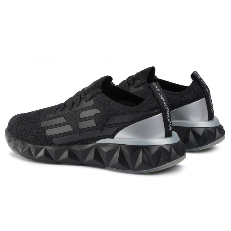 miniature 16 - EA7 Baskets Emporio Armani Homme X8X048 XK113 2020 Chaussures Noir Tissu