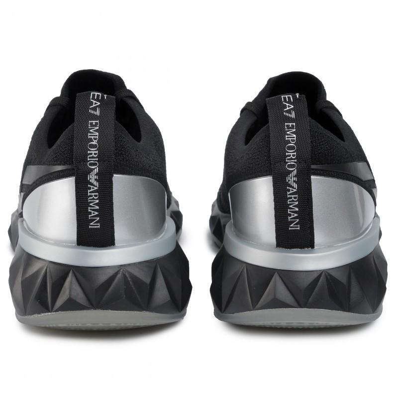 miniature 17 - EA7 Baskets Emporio Armani Homme X8X048 XK113 2020 Chaussures Noir Tissu
