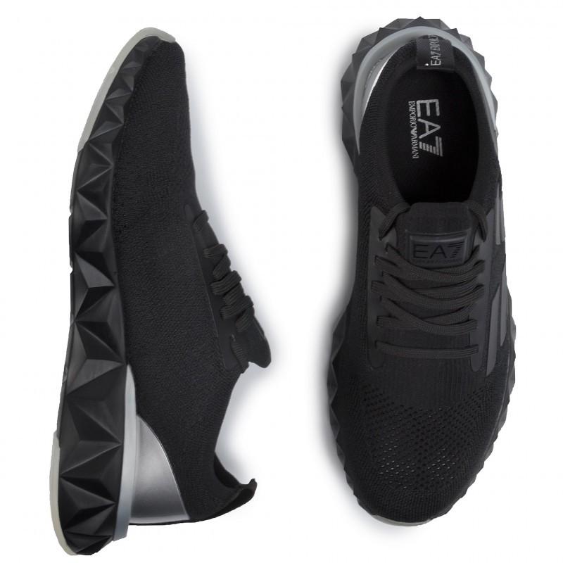 miniature 18 - EA7 Baskets Emporio Armani Homme X8X048 XK113 2020 Chaussures Noir Tissu
