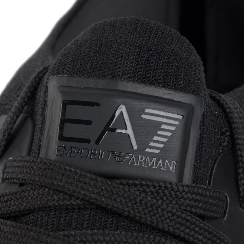 miniature 19 - EA7 Baskets Emporio Armani Homme X8X048 XK113 2020 Chaussures Noir Tissu