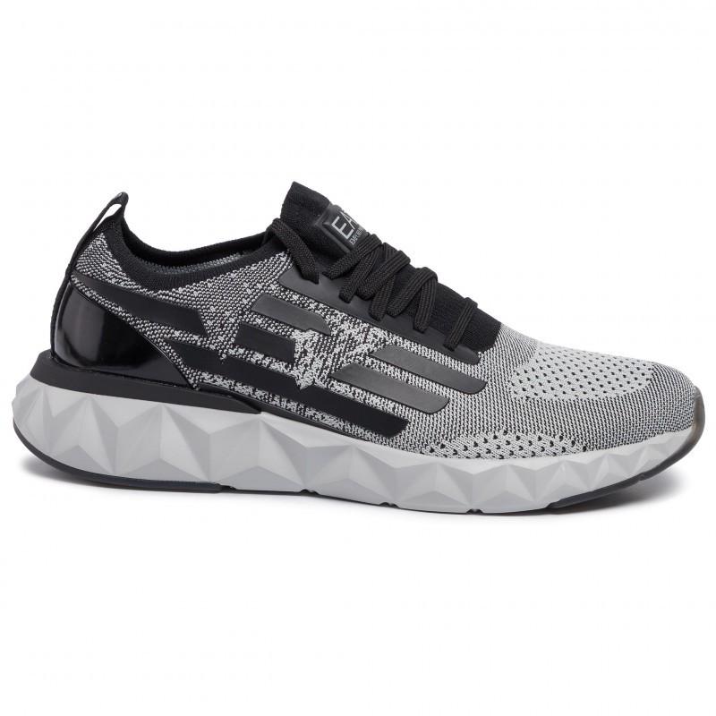 miniature 22 - EA7 Baskets Emporio Armani Homme X8X048 XK113 2020 Chaussures Noir Tissu