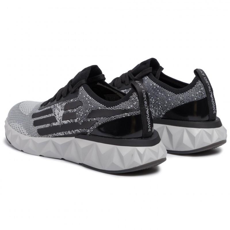 miniature 23 - EA7 Baskets Emporio Armani Homme X8X048 XK113 2020 Chaussures Noir Tissu