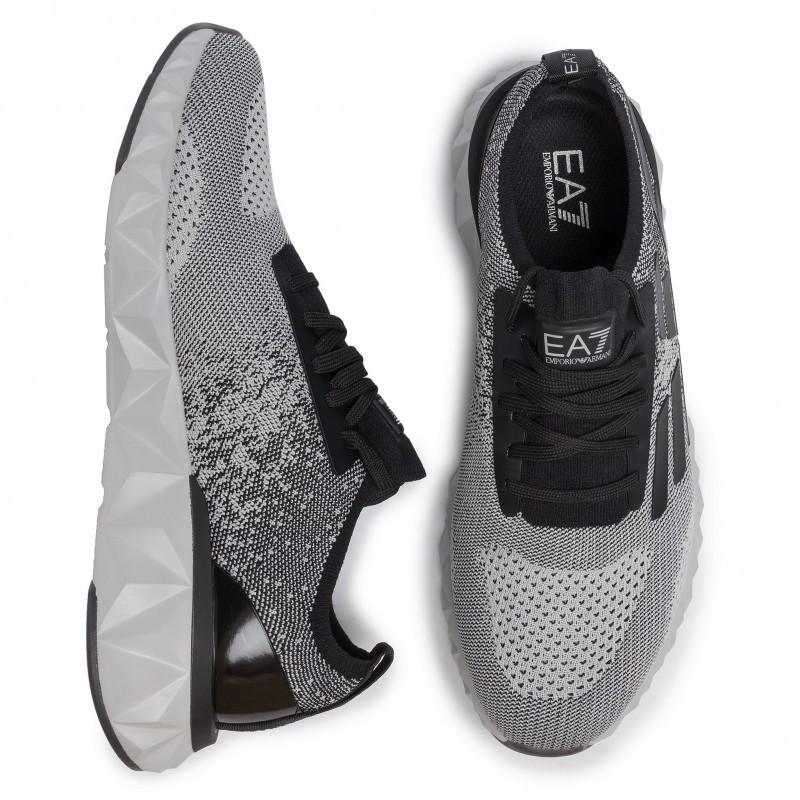 miniature 24 - EA7 Baskets Emporio Armani Homme X8X048 XK113 2020 Chaussures Noir Tissu