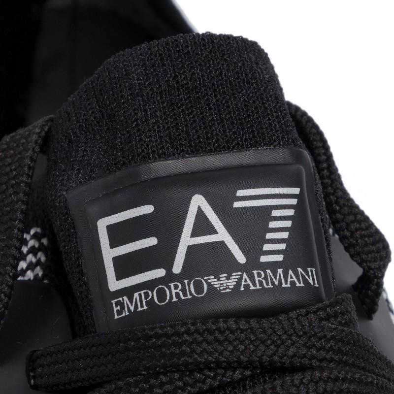 miniature 25 - EA7 Baskets Emporio Armani Homme X8X048 XK113 2020 Chaussures Noir Tissu