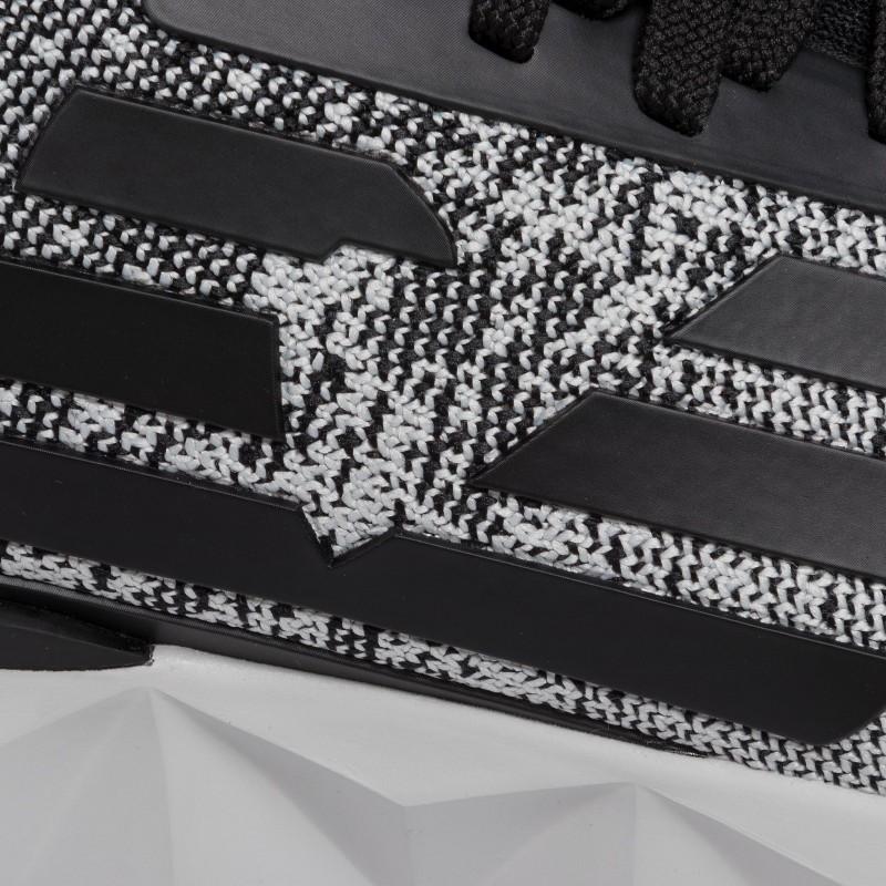 miniature 26 - EA7 Baskets Emporio Armani Homme X8X048 XK113 2020 Chaussures Noir Tissu