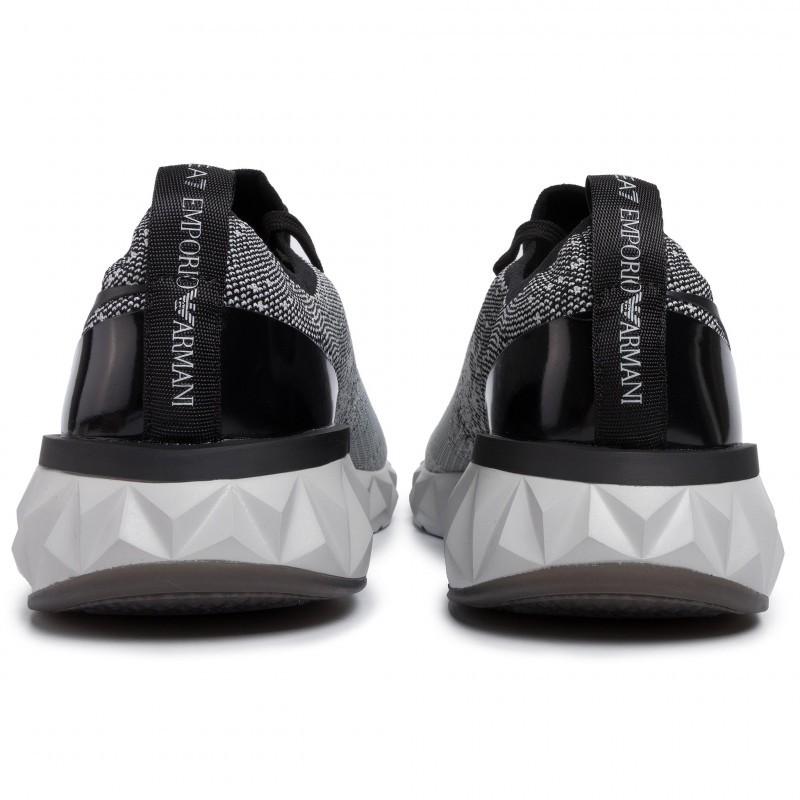 miniature 28 - EA7 Baskets Emporio Armani Homme X8X048 XK113 2020 Chaussures Noir Tissu