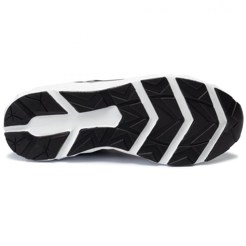 miniature 15 - EA7 Baskets Emporio Armani Homme X8X033 XCC52 2021 Chaussures Noir Blanc Gris