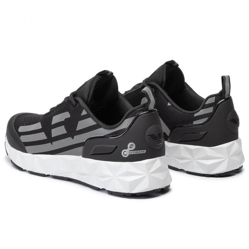 miniature 16 - EA7 Baskets Emporio Armani Homme X8X033 XCC52 2021 Chaussures Noir Blanc Gris