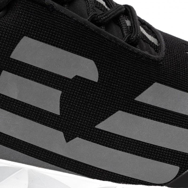 miniature 19 - EA7 Baskets Emporio Armani Homme X8X033 XCC52 2021 Chaussures Noir Blanc Gris
