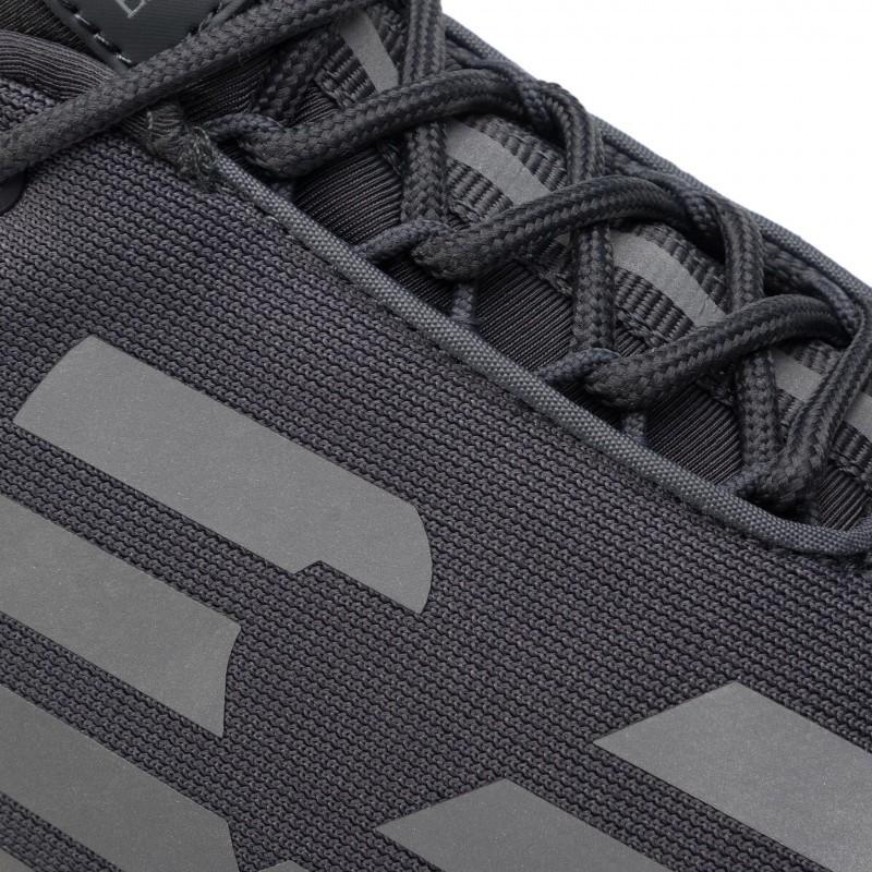 miniature 24 - EA7 Baskets Emporio Armani Homme X8X033 XCC52 2021 Chaussures Noir Blanc Gris