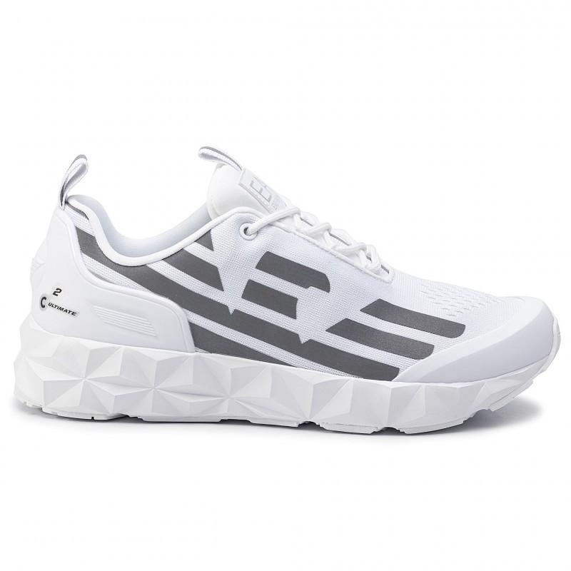 miniature 28 - EA7 Baskets Emporio Armani Homme X8X033 XCC52 2021 Chaussures Noir Blanc Gris