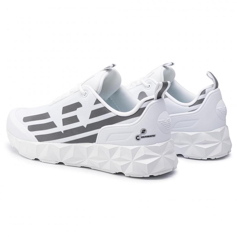 miniature 30 - EA7 Baskets Emporio Armani Homme X8X033 XCC52 2021 Chaussures Noir Blanc Gris