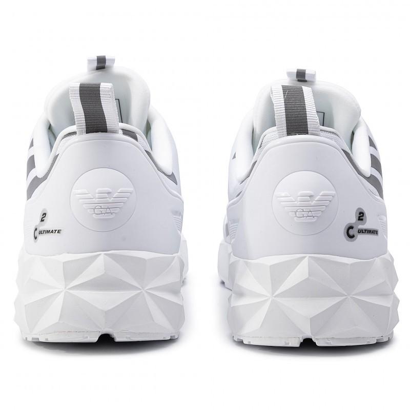 miniature 31 - EA7 Baskets Emporio Armani Homme X8X033 XCC52 2021 Chaussures Noir Blanc Gris