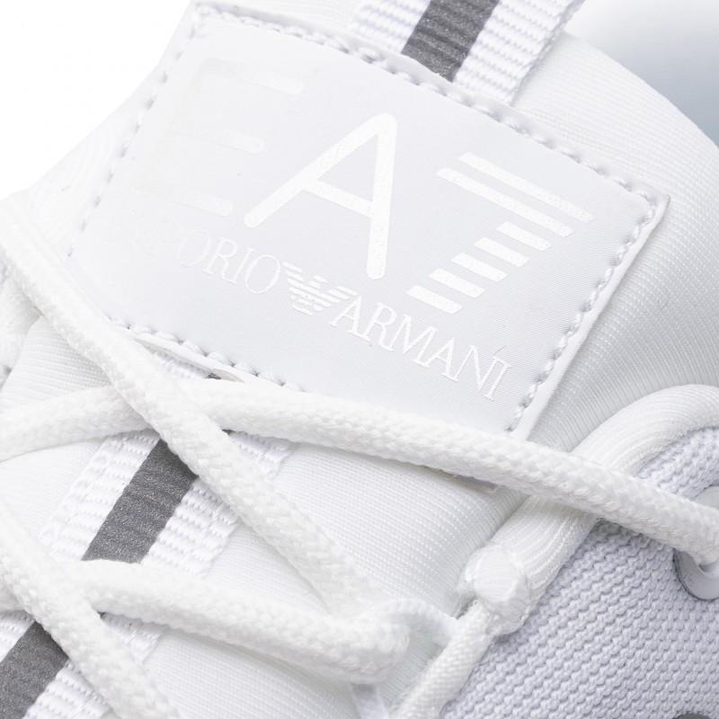 miniature 34 - EA7 Baskets Emporio Armani Homme X8X033 XCC52 2021 Chaussures Noir Blanc Gris