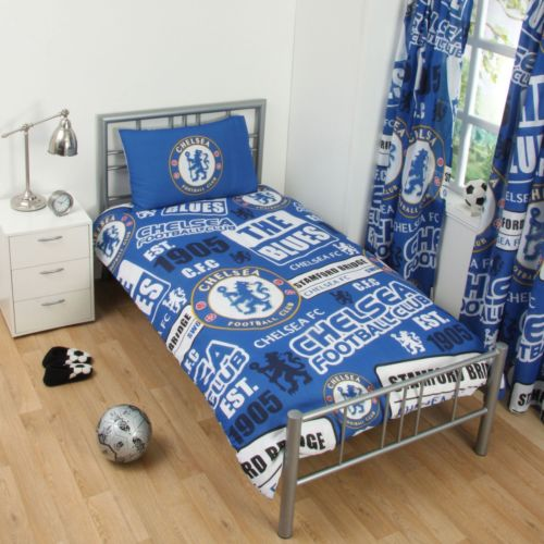 Chelsea FC Duvet Set Single Blue White Bed Bedding Pillowcase