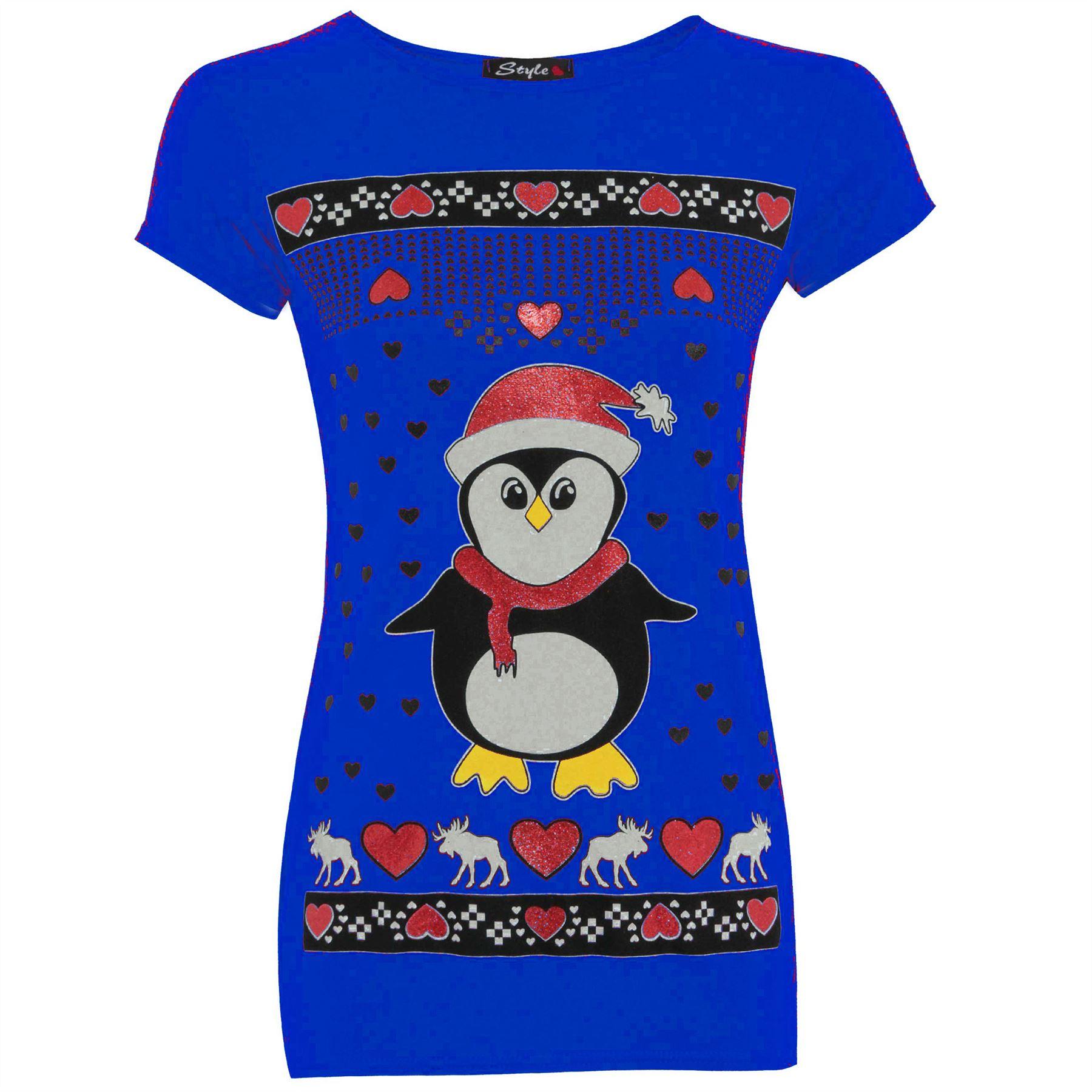 damen weihnachten santa schneemann rentier batman pinguin. Black Bedroom Furniture Sets. Home Design Ideas