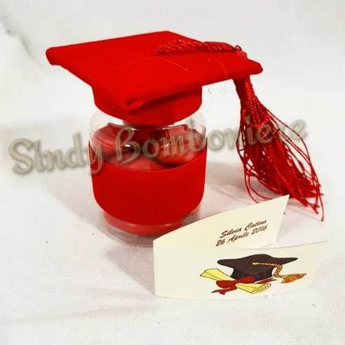 Sachets-a-dragees-bocal-avec-bouchon-en-forme-de-toucher-remise-de-diplomes