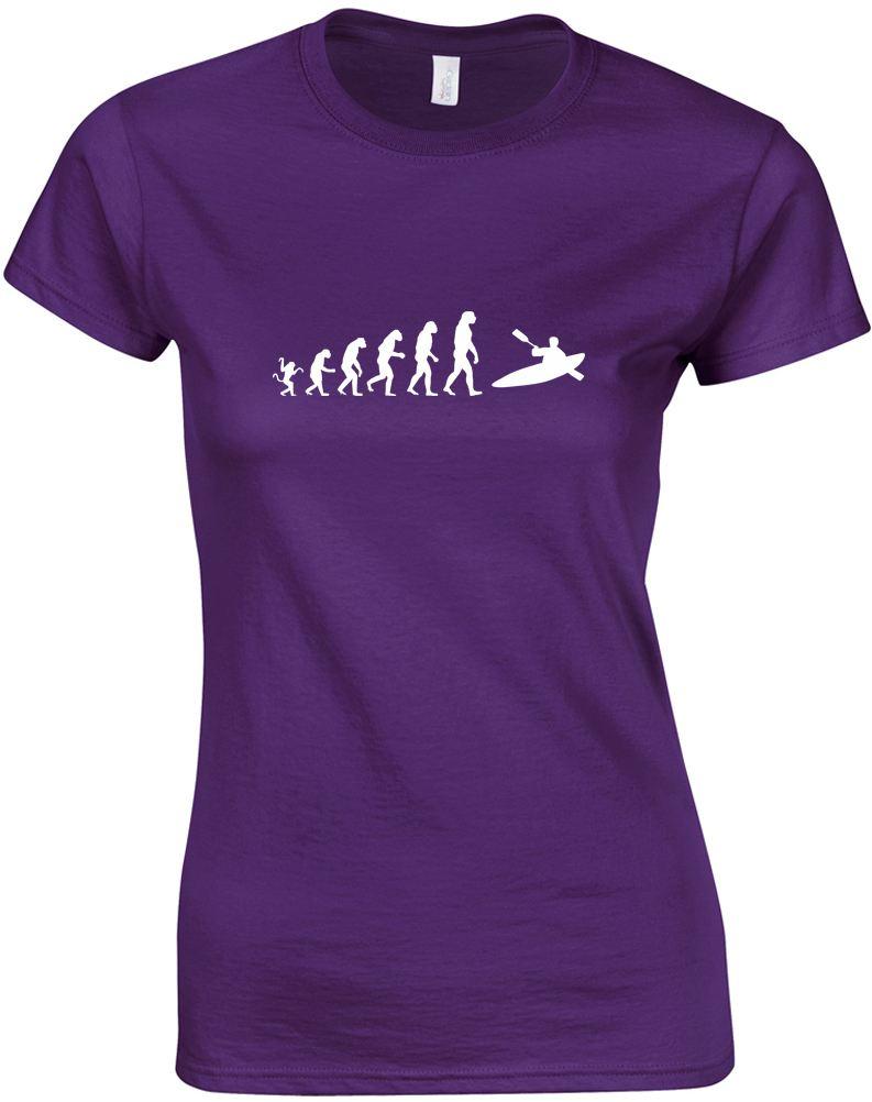 La-evolucion-de-Kayak-Camiseta-estampada-para-mujer