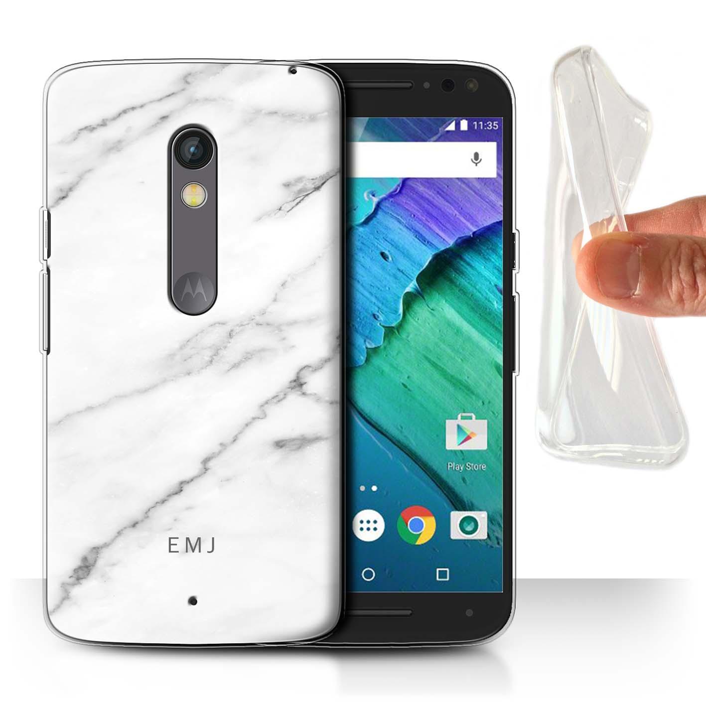 Personalizado-Marmol-Funda-Gel-para-Motorola-Moto-X-Play-2015-Nombre-Inicial