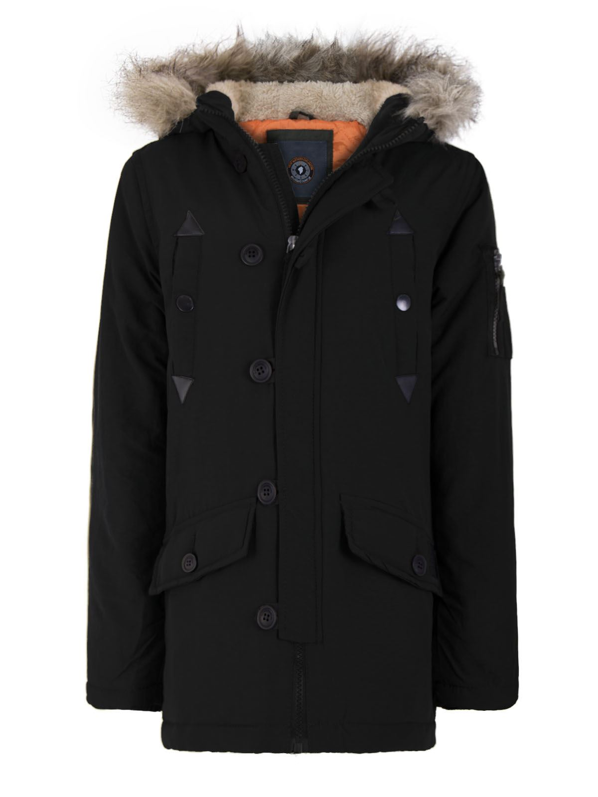 gar ons enfants fausse fourrure veste capuche toile mode militaire manteau parka ebay. Black Bedroom Furniture Sets. Home Design Ideas