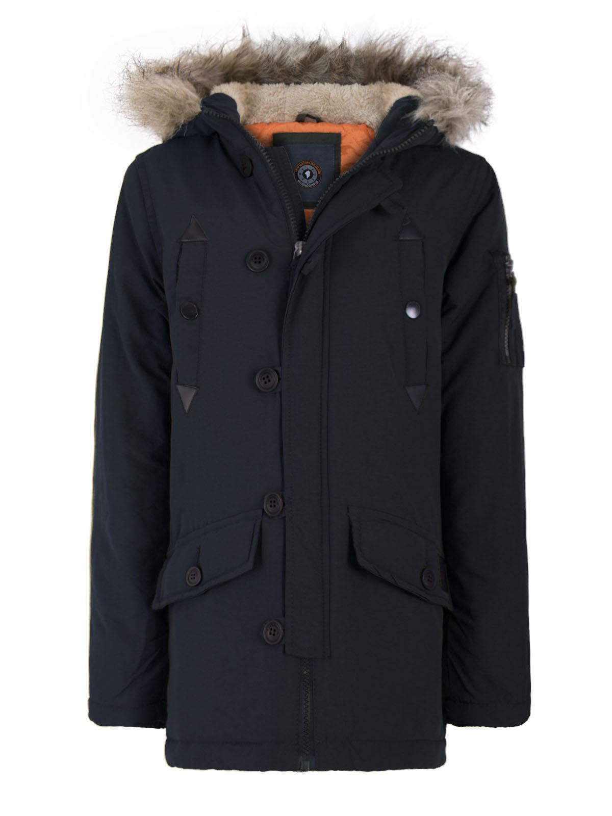 gar ons enfants fausse fourrure veste capuche toile mode militaire manteau parka ebay. Black Bedroom Furniture Sets. Home Design Ideas