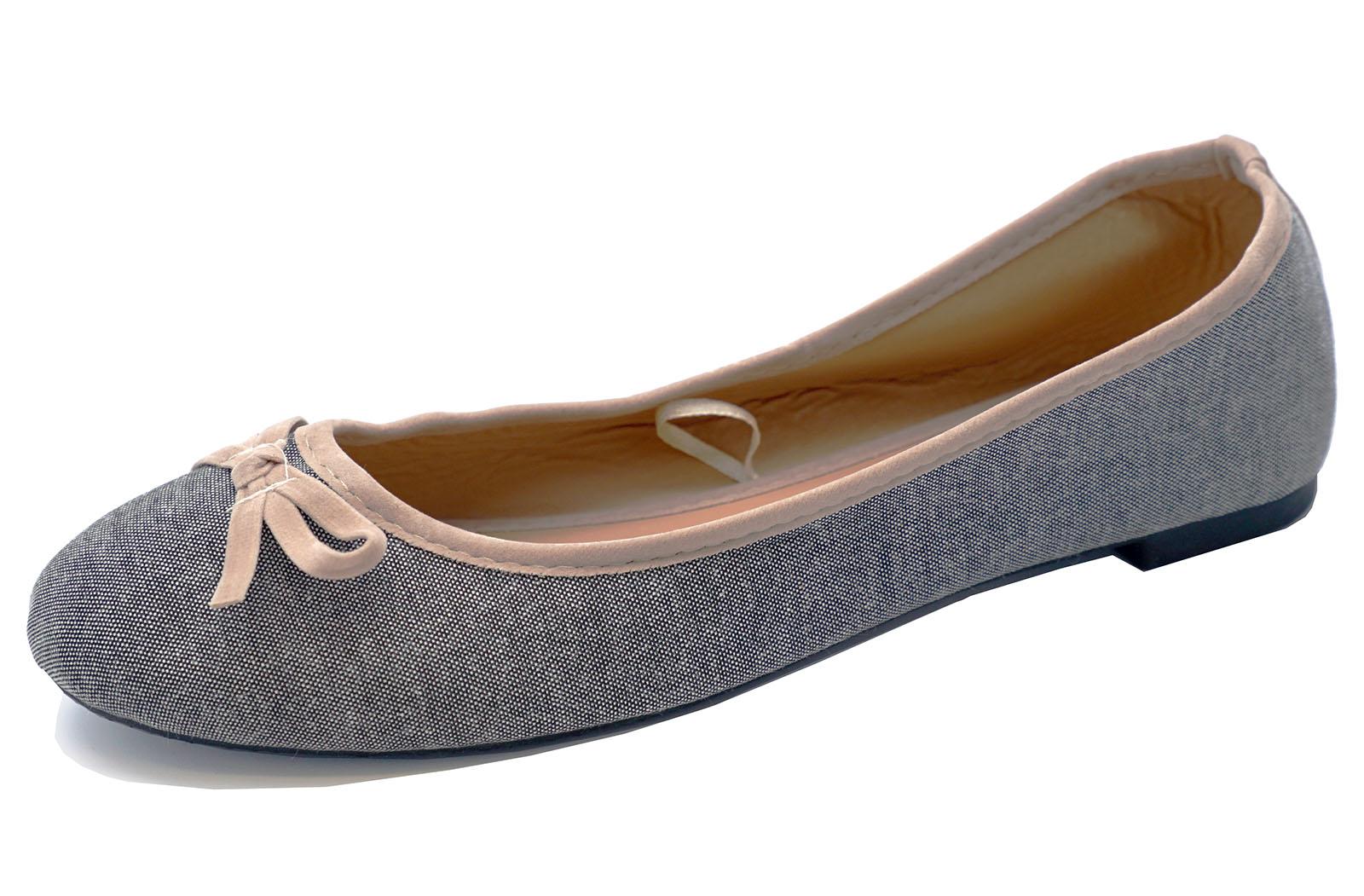 sin tacón color negro para Dama Lona Zapatos Cordones Cómodo Bailarinas Ballet