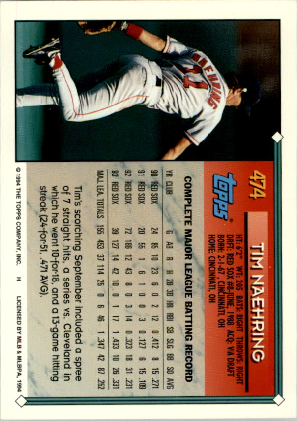 1994-Topps-Beisbol-Tarjeta-Recoger-461-792 miniatura 23