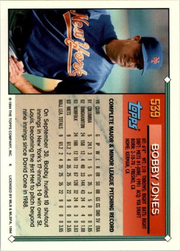 1994-Topps-Beisbol-Tarjeta-Recoger-461-792 miniatura 120