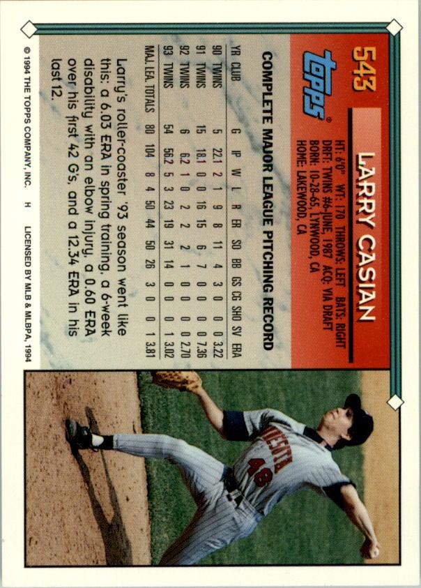 1994-Topps-Beisbol-Tarjeta-Recoger-461-792 miniatura 125