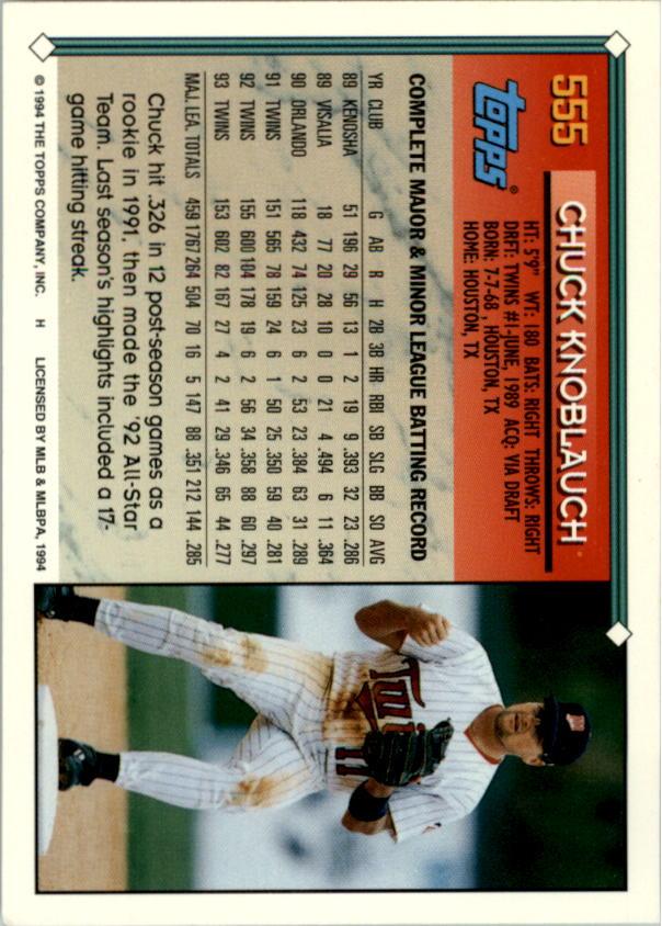 1994-Topps-Beisbol-Tarjeta-Recoger-461-792 miniatura 146