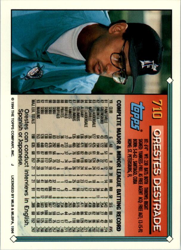 1994-Topps-Beisbol-Tarjeta-Recoger-461-792 miniatura 385