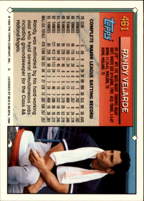 1994-Topps-Beisbol-Tarjeta-Recoger-461-792 miniatura 3