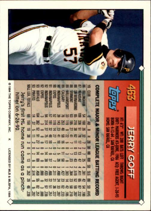 1994-Topps-Beisbol-Tarjeta-Recoger-461-792 miniatura 5
