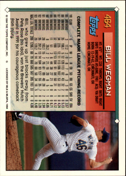 1994-Topps-Beisbol-Tarjeta-Recoger-461-792 miniatura 7
