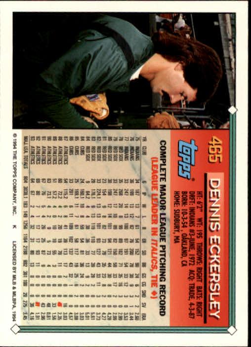 1994-Topps-Beisbol-Tarjeta-Recoger-461-792 miniatura 9