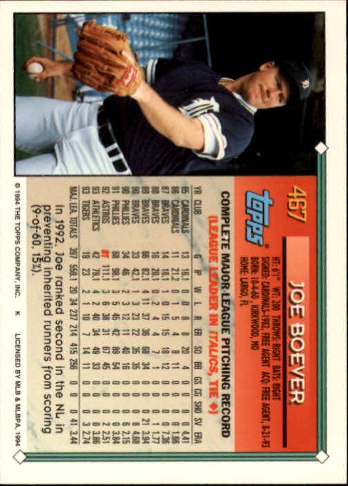 1994-Topps-Beisbol-Tarjeta-Recoger-461-792 miniatura 13