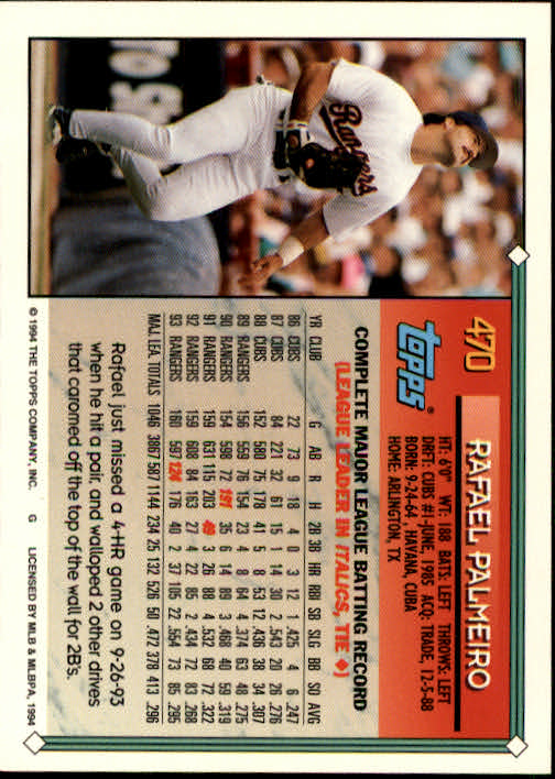 1994-Topps-Beisbol-Tarjeta-Recoger-461-792 miniatura 19