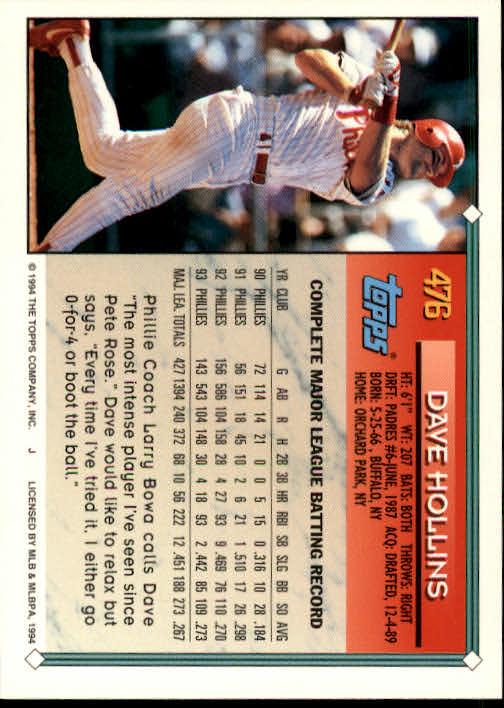 1994-Topps-Beisbol-Tarjeta-Recoger-461-792 miniatura 25