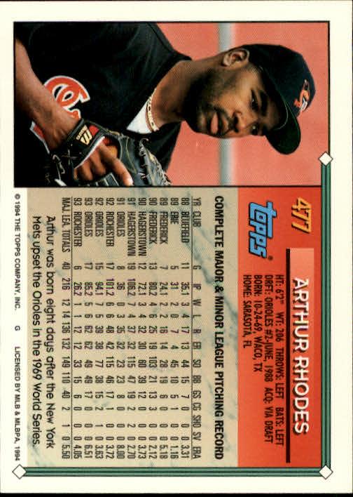 1994-Topps-Beisbol-Tarjeta-Recoger-461-792 miniatura 27