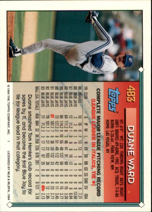 1994-Topps-Beisbol-Tarjeta-Recoger-461-792 miniatura 39