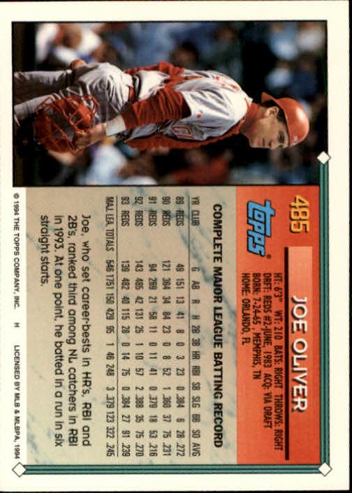 1994-Topps-Beisbol-Tarjeta-Recoger-461-792 miniatura 43