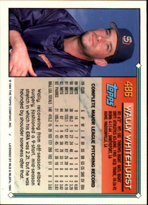 1994-Topps-Beisbol-Tarjeta-Recoger-461-792 miniatura 45