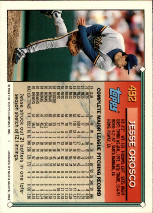 1994-Topps-Beisbol-Tarjeta-Recoger-461-792 miniatura 49