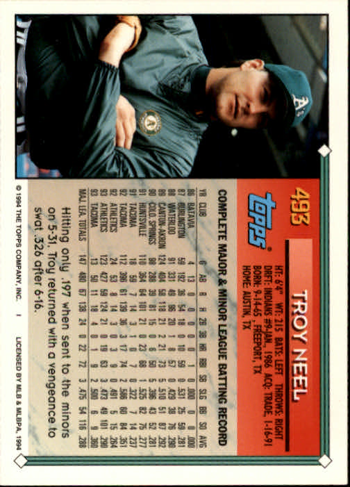 1994-Topps-Beisbol-Tarjeta-Recoger-461-792 miniatura 51