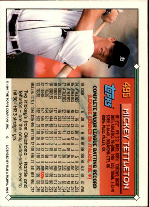 1994-Topps-Beisbol-Tarjeta-Recoger-461-792 miniatura 55