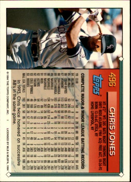 1994-Topps-Beisbol-Tarjeta-Recoger-461-792 miniatura 57