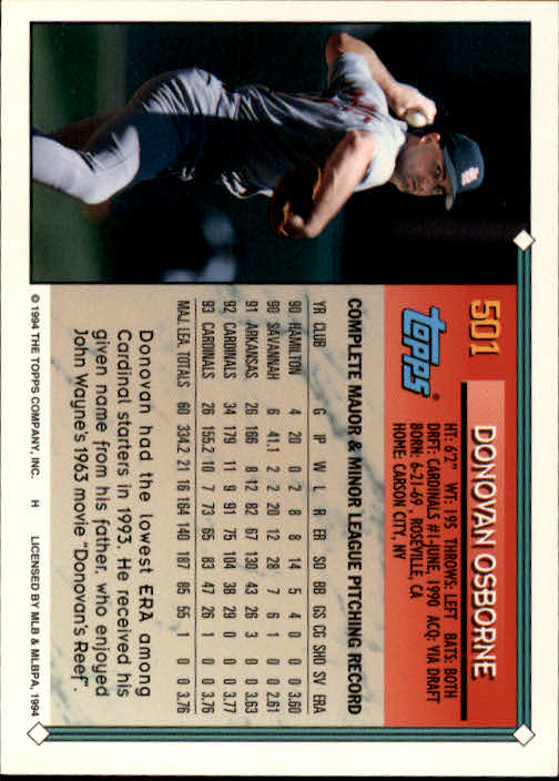 1994-Topps-Beisbol-Tarjeta-Recoger-461-792 miniatura 63