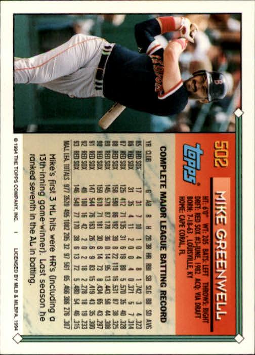 1994-Topps-Beisbol-Tarjeta-Recoger-461-792 miniatura 65