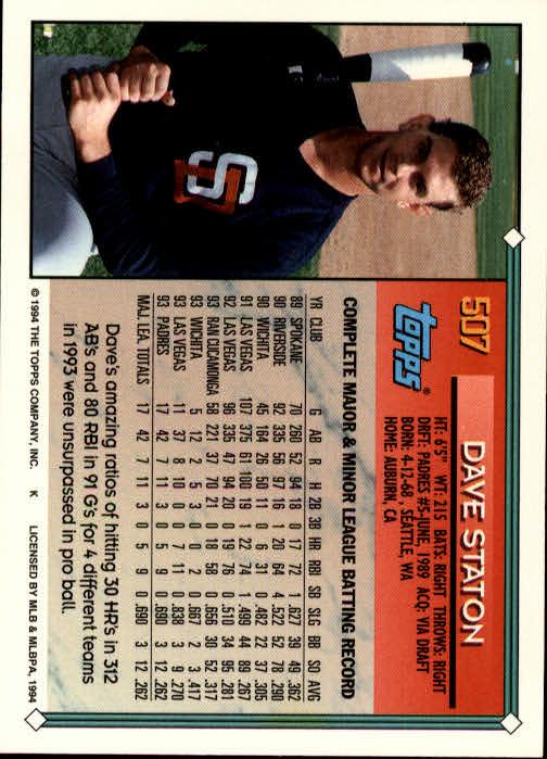 1994-Topps-Beisbol-Tarjeta-Recoger-461-792 miniatura 75