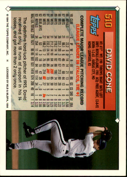 1994-Topps-Beisbol-Tarjeta-Recoger-461-792 miniatura 77